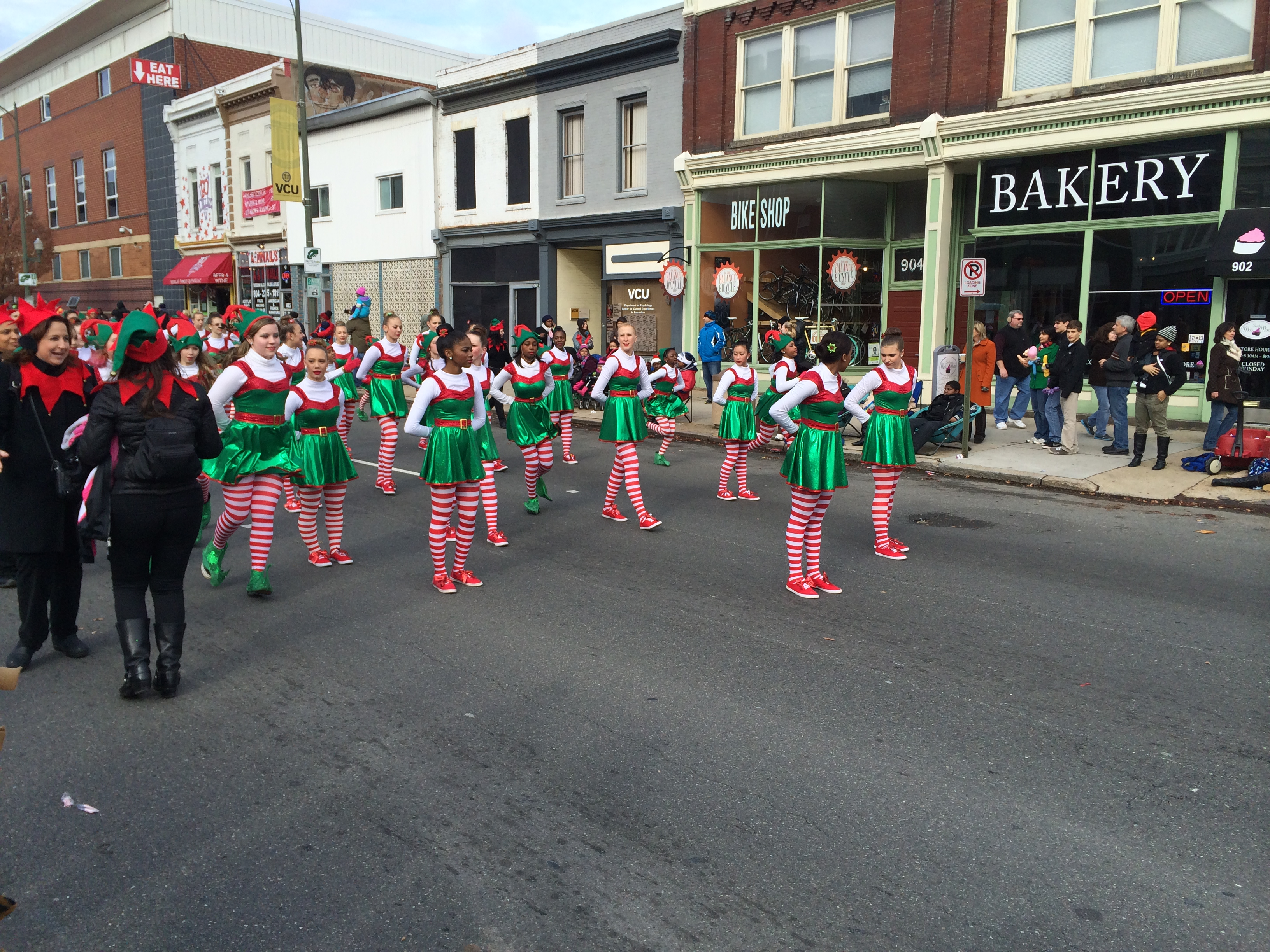 elves at the christmas parade